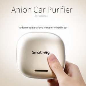 Anion car purifier with aroma module cube design
