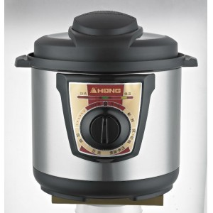 HONG, TRIANGLE 800W Electric Stainless Steel Pressure Cooker, Machanical Control